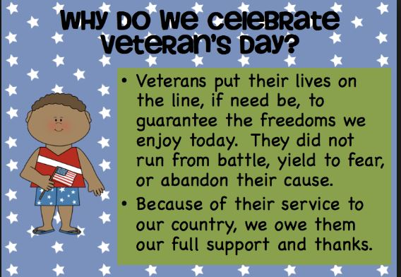 Veterans day for kid