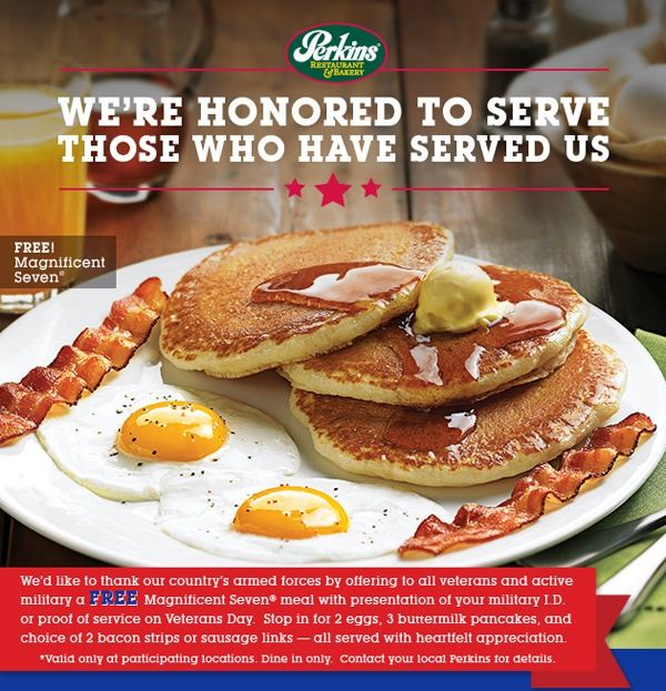 free veterans day meals