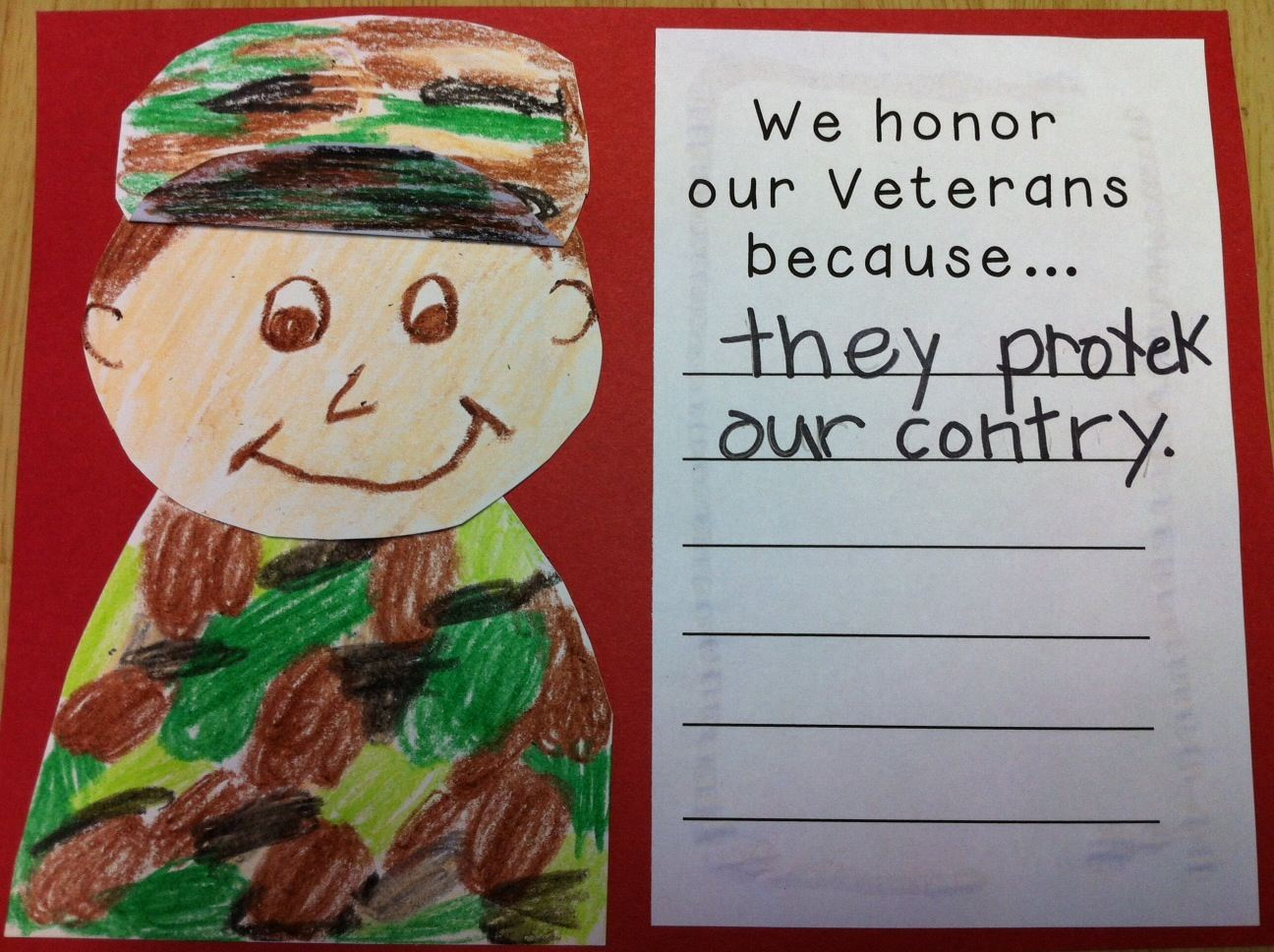 veterans day for kindergarten