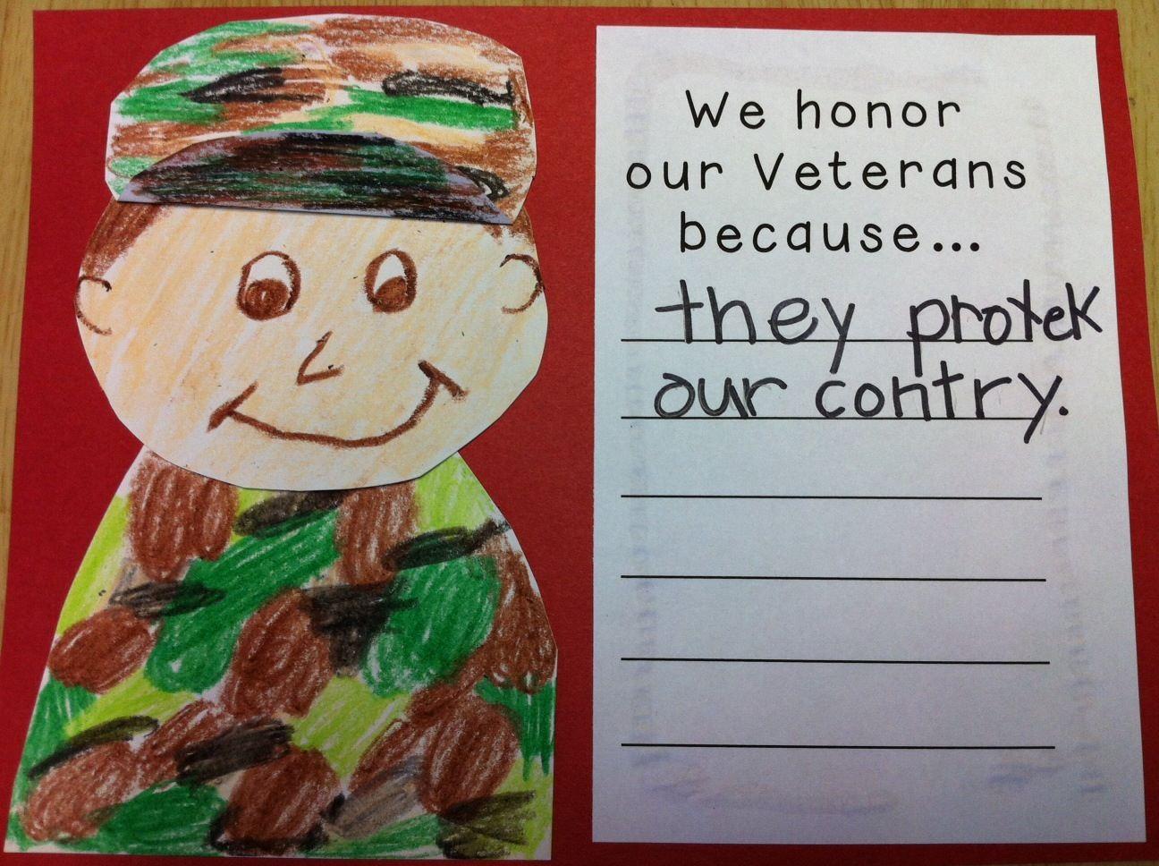 veterans day for kindergarten